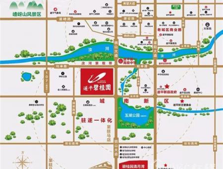 遂平碧桂园交通图