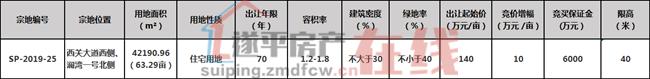 遂平县SP-2019-25号国有建设用地使用权